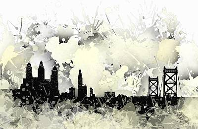 Spot Digital Art - Philadelphia Skyline. by Alberto RuiZ