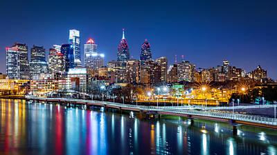 Photograph - Philadelphia Skyline By Night by Mihai Andritoiu