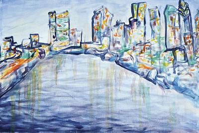 Philadelphia Phillies Painting - Philadelphia Skyline by Elizabeth Blair-Nussbaum