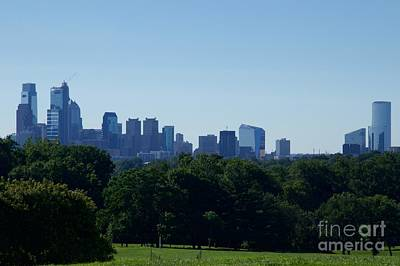 Philadelphia Champion - Rocky Photograph - Philadelphia Skyline Of Champions by Clay Cofer