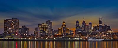 Philadelphia Skyline Photograph - Philadelphia Skyline Panorama by Susan Candelario