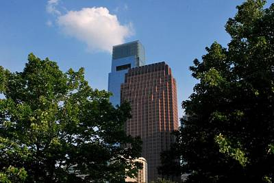 Photograph - Philadelphia Skyscrapers And Tree View by Matt Harang