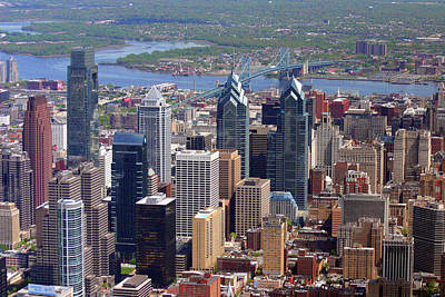 Philadelphia Skyline Photograph - Philadelphia Skyscrapers by Duncan Pearson