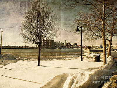 Philadelphia Snowscape Art Print by Milton Brugada