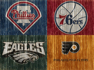 Birds Mixed Media - Philadelphia Sports Teams by Dan Sproul