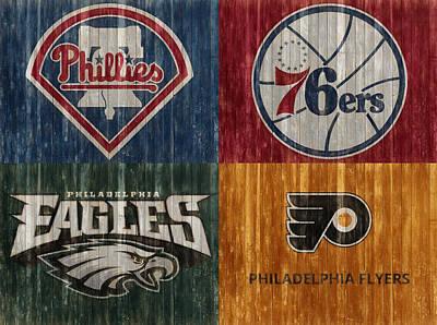 Mixed Media - Philadelphia Sports Teams by Dan Sproul