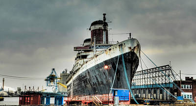 Liner Digital Art - Philadelphia - Ss United States by Bill Cannon