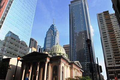 Photograph - Philadelphia Street Level - Skyscrapers And Classical Building View by Matt Harang