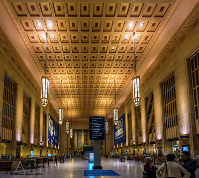 Phillies Photograph - Philadelphia Train Station by Marvin Spates