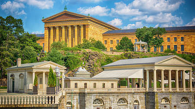 Philadelphia Waterworks And Museum Of Art Art Print