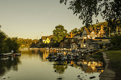 Boathouse Row Digital Art - Philadelphia's Boathouse Row - The Golden Hour by Bill Cannon