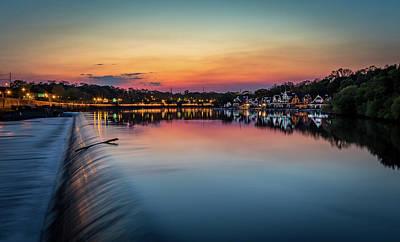 Homey Mixed Media - Philadelphia's Sunset by Howard Roberts