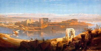 Philae In Nubia Art Print by David Roberts