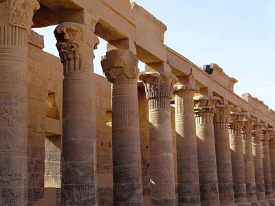 Exploramum Photograph - Philae Pillars by Exploramum Exploramum