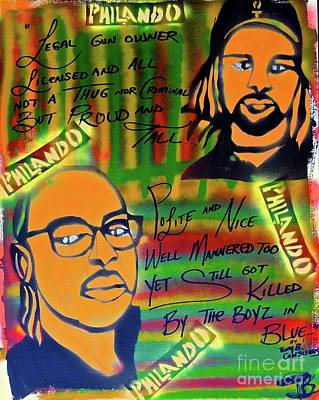 Moral Painting - Philando Castile by Tony B Conscious