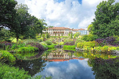 Photograph - Philbrook Art Museum  Garden Reflections - Photography by Ann Powell