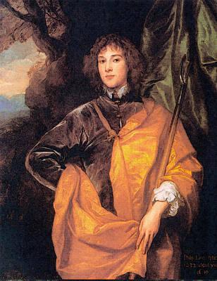 Digital Art - Philip Fourth Lord Wharton  by Sir Antony van Dyck