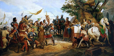 Bataille Painting - Philip II Victorious At Bouvines by MotionAge Designs