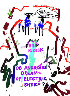 Science Fiction Drawings - Philip K Dick poster 3  by Paul Sutcliffe