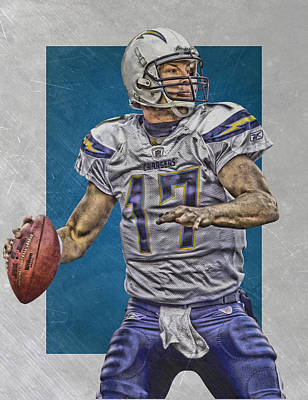 San Diego Stadium Painting - Philip Rivers San Diego Chargers Art by Joe Hamilton