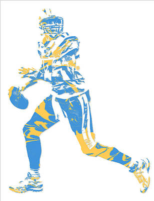 Mixed Media - Philip Rivers San Diego Los Angeles Chargers Pixel Art 5 by Joe Hamilton
