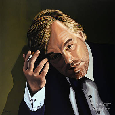 Smoking Painting - Philip Seymour Hoffman by Paul Meijering