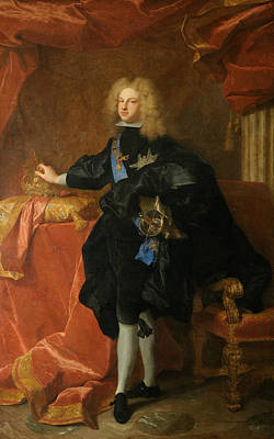 Painting - Philip V, King Of Spain  by Hyacinthe Rigaud