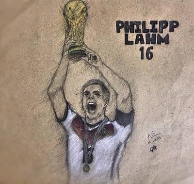 Bayern Drawing - Philipp Lahm by Abrar Ahmed