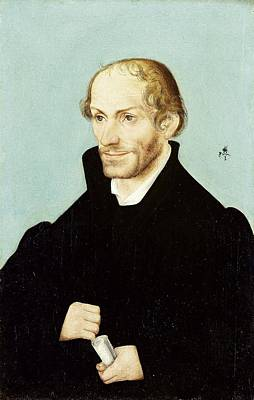 Handsome Painting - Philipp Melanchthon, Leading Figure Of The Reformation, Lucas Cranach I, 1540 - 1560 by Artistic Rifki