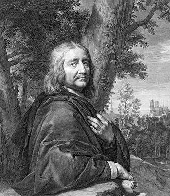 Self-portrait Drawing - Philippe De Champaigne 1602 To 1674 by Vintage Design Pics