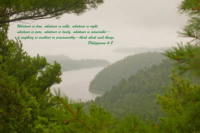 Photograph - Philippians 4-6 by Paul Mangold