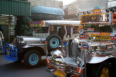 Philippine Jeepneys.  Art Print by Christopher Rowlands