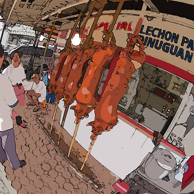 Painting - Philippines 4057 Lechon by Rolf Bertram