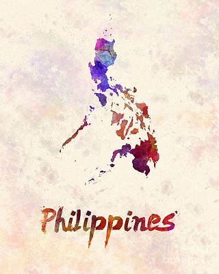 Southeast Asia Painting - Philippines  In Watercolor by Pablo Romero