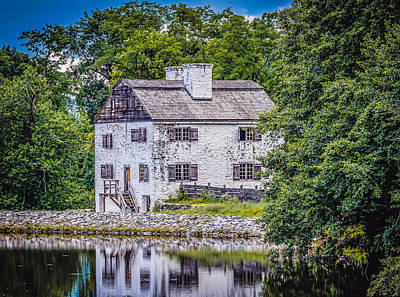 Water Droplets Sharon Johnstone - Philipsburg Manor House  by Black Brook Photography
