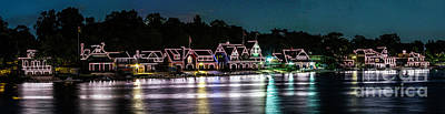 Photograph - Philladelphia Boathouse Row by Nick Zelinsky
