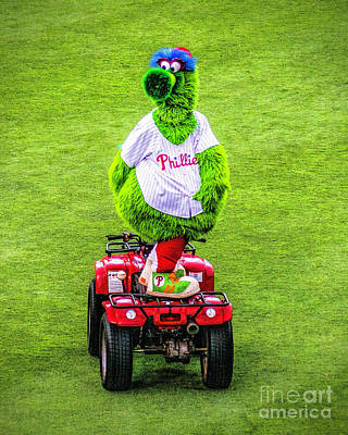 Phillie Phanatic Scooter Art Print by Nick Zelinsky