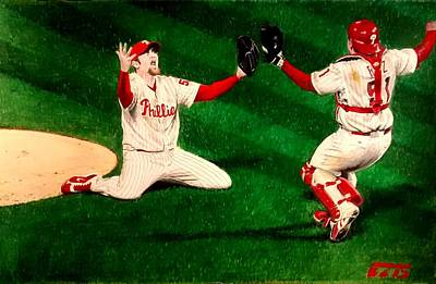 Phillies Win The World Series Original by Ezra Strayer