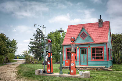 Photograph - Phillips 66 Gas Station by James Barber
