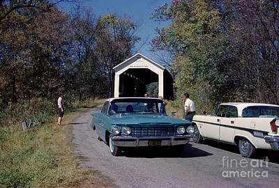 Photograph - Phillips Covered Bridge, Wabash, Parke County, Indiana by Wernher Krutein