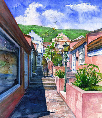 Painting - Phillipsburg St Maarten Person by John D Benson