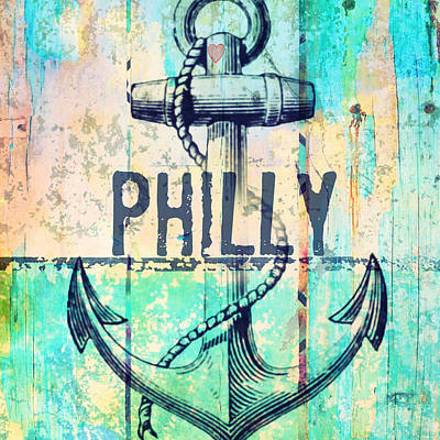 Phillies Art Mixed Media - Philly Anchor 2 by Brandi Fitzgerald