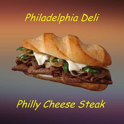 Phillies Digital Art - Philly Cheese Steak Customized  by Movie Poster Prints