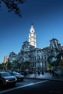 Phillies Photograph - Philly City Hall by Marvin Spates