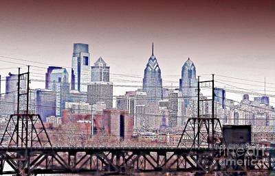 Philadelphia Scene Digital Art - Philly Grit 1 by Andrew Cravello