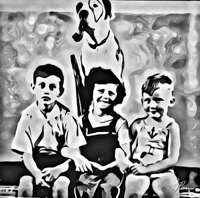 Digital Art - Philly Kids With Petey The Dog by Joan Reese