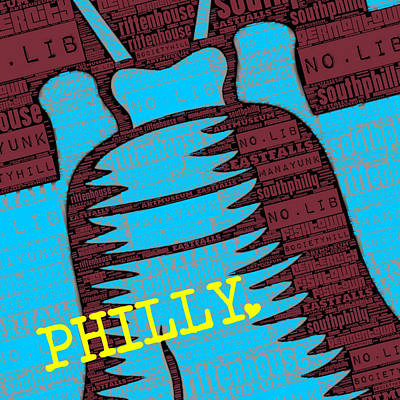 Philae Mixed Media - Philly Liberty Bell by Brandi Fitzgerald