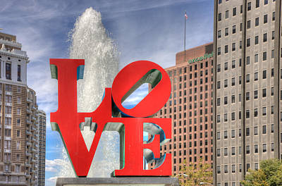 Benjamin Franklin Parkway Photograph - Philly Love by Matthew Bamberg