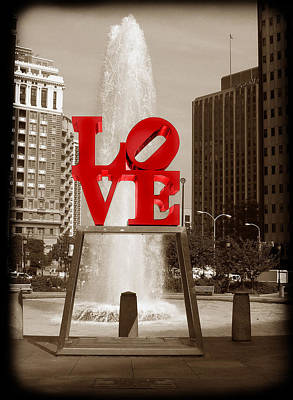 Philly Love Art Print by Skip Willits