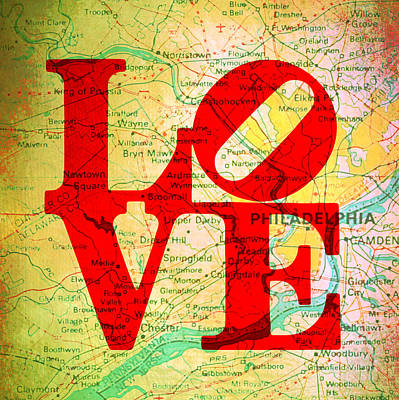 Philly Love V12 Art Print